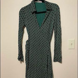 Diane Von Furstenberg Reissue Silk Wrap Dress